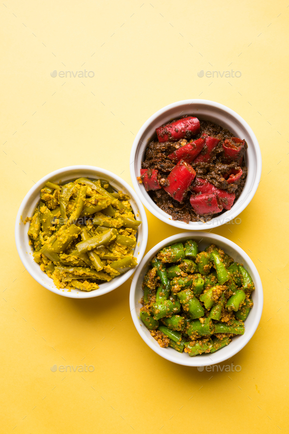 Red & Green Chilli Pickle - Stock Photo - Images