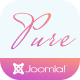 Pure - Beauty Salon Joomla Template for Cosmetics & Makeup Artist Portfolio