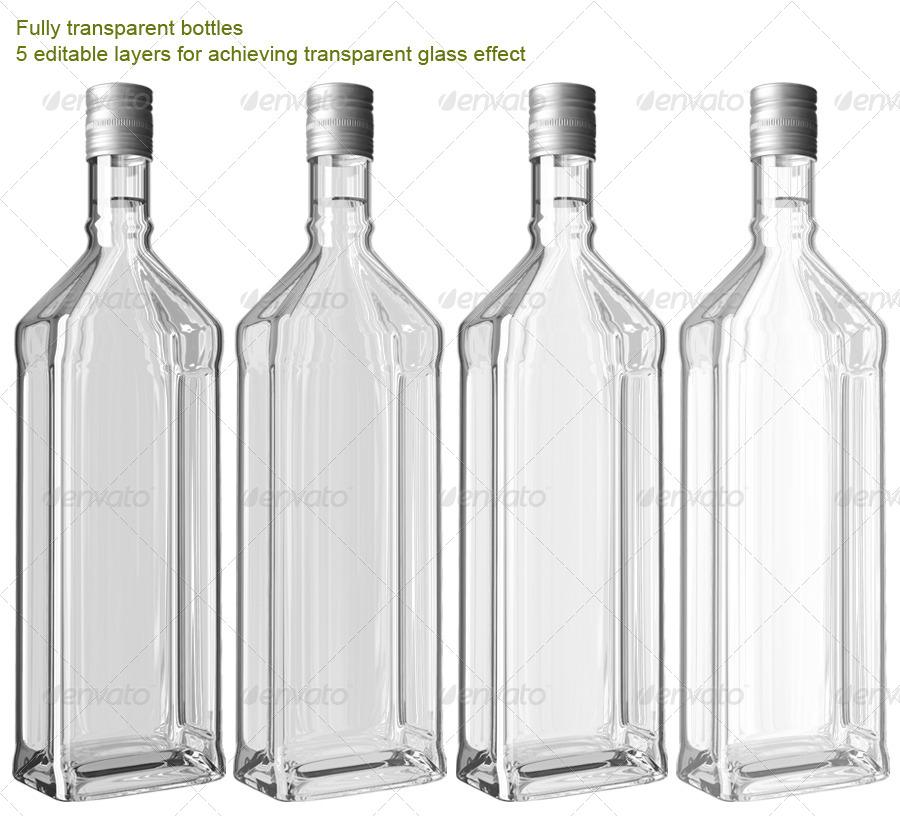 translucent bottles mock up by logic design