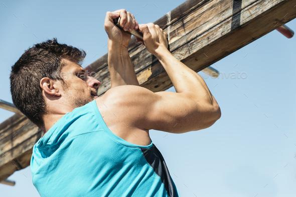 Fitness man training. - Stock Photo - Images