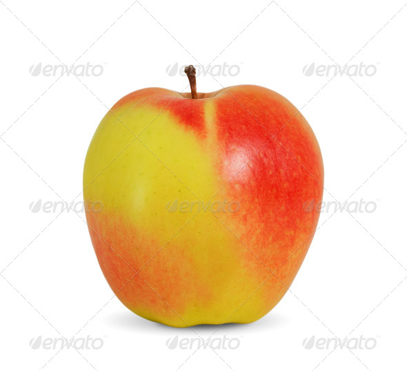 Beautiful apple on white background - Stock Photo - Images