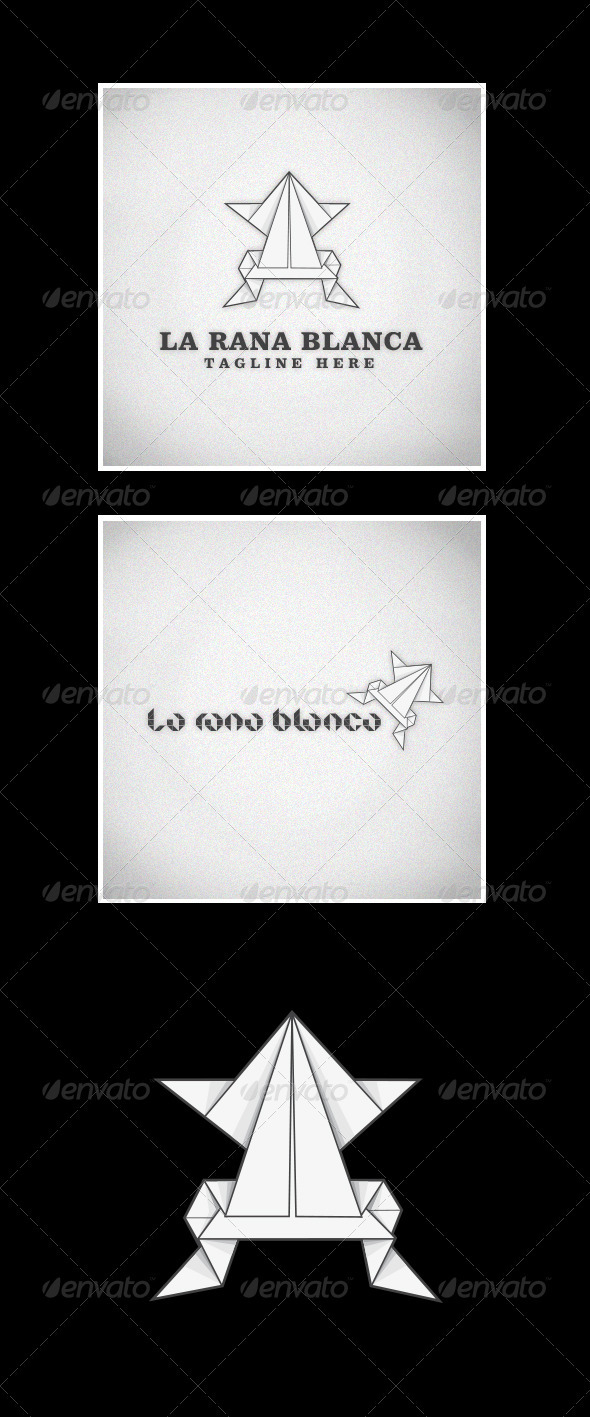La Rana Blanca (The White Frog) - Animals Logo Templates