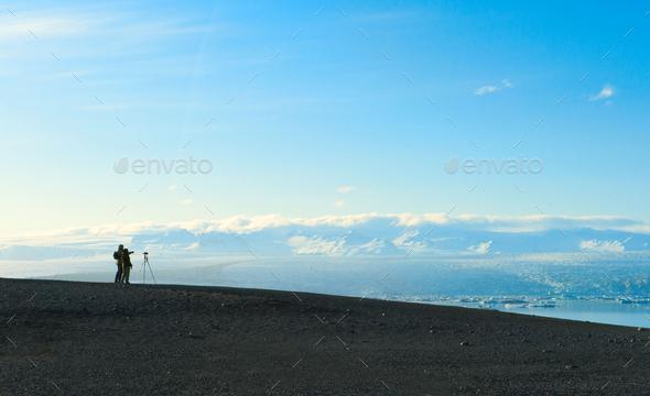 photographer nature landscape - Stock Photo - Images