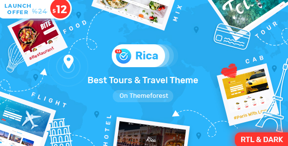 Rica- Travel , Tours , Hotels & Restaurants Site Template