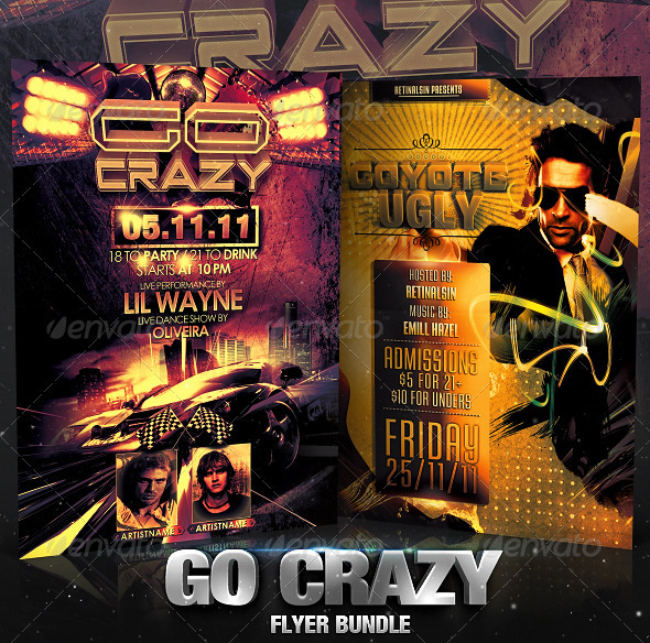 Go Crazy Flyer Bundle - Flyers Print Templates