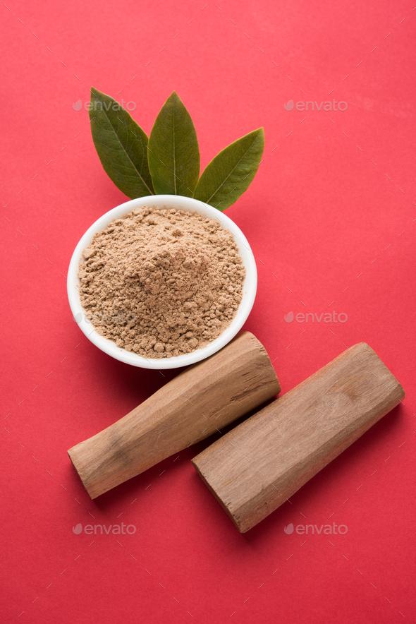 Chandan Powder or Sandalwood Powder - Stock Photo - Images