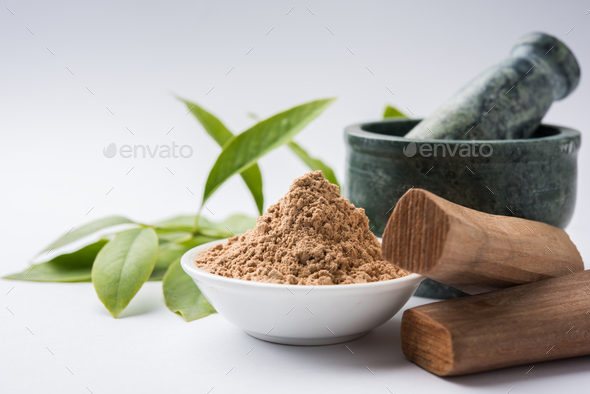 Chandan Powder or Sandalwood Powder - Stock Photo - Images
