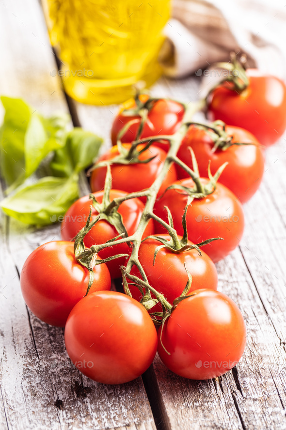 Red cherry tomatoes. - Stock Photo - Images