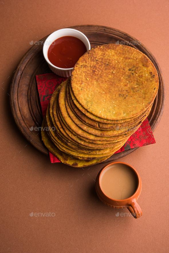 Khakhra or Khakra Cracker Snack from India - Stock Photo - Images