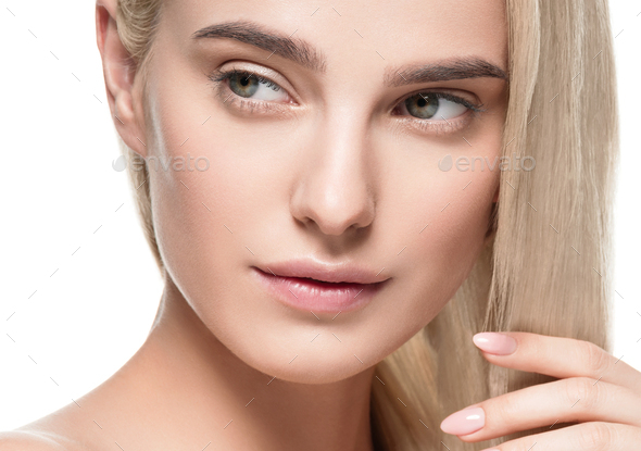 Natural healthy skin beauty female macro - Stock Photo - Images