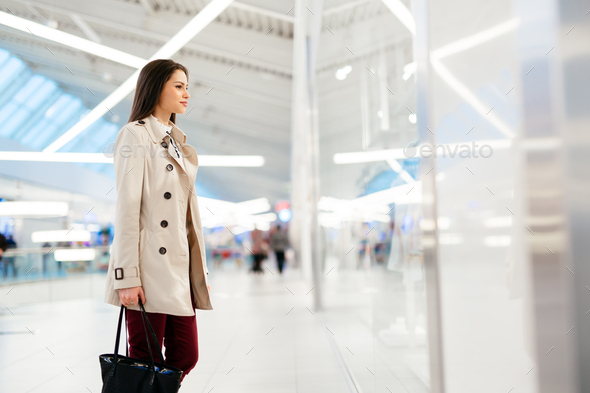Businesswoman out of office - Stock Photo - Images