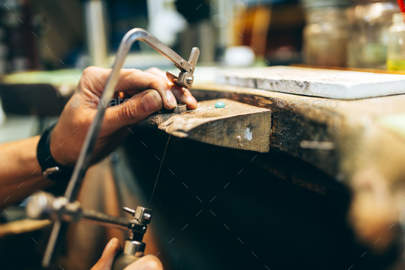 Young Jeweler working - Stock Photo - Images
