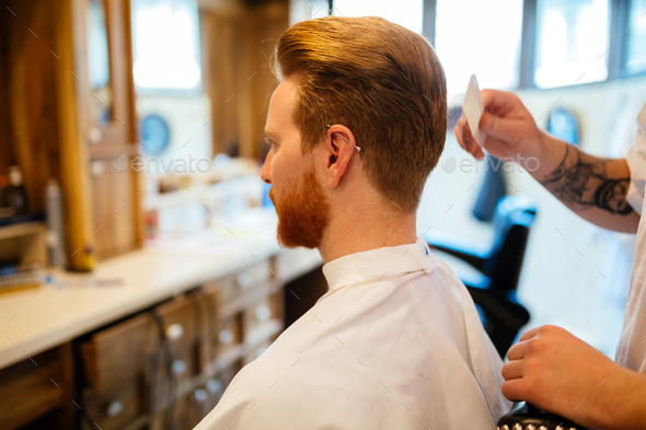 Combing of hair and styling - Stock Photo - Images