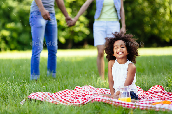 Child is happy when parents are in love - Stock Photo - Images