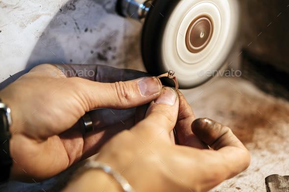 Jewelery polishing ring - Stock Photo - Images
