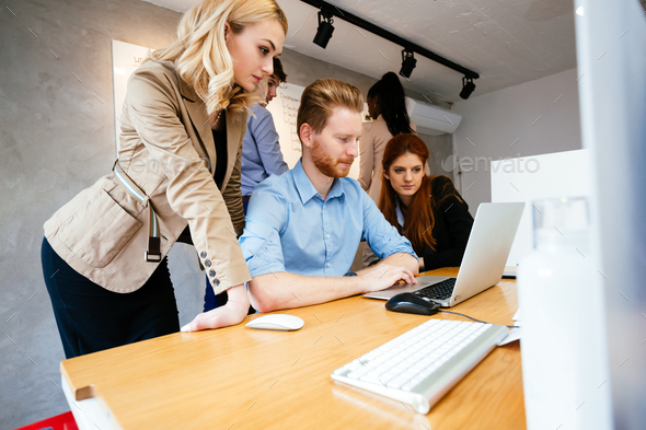 Business people collaborating in office - Stock Photo - Images