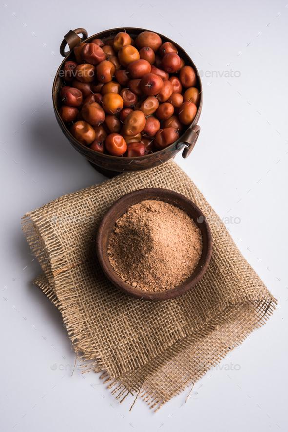 Borkut or Indian Jujube ber Powder - Stock Photo - Images