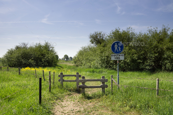 Footpath to the river - Stock Photo - Images