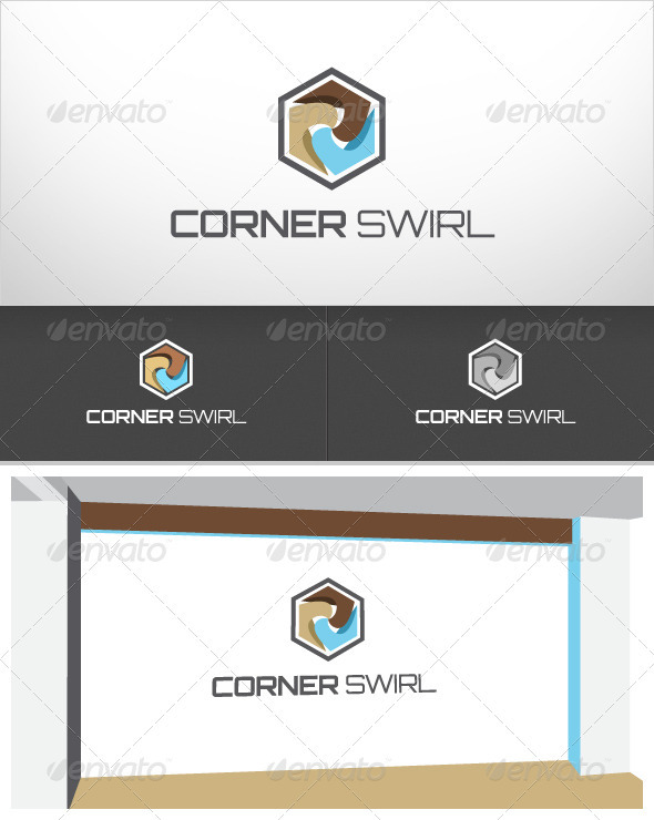 Corner Swirl - Abstract Logo Templates