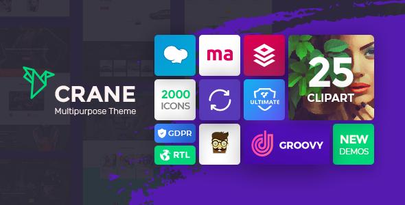 Crane - Responsive Multipurpose WordPress Theme by grooni | ThemeForest