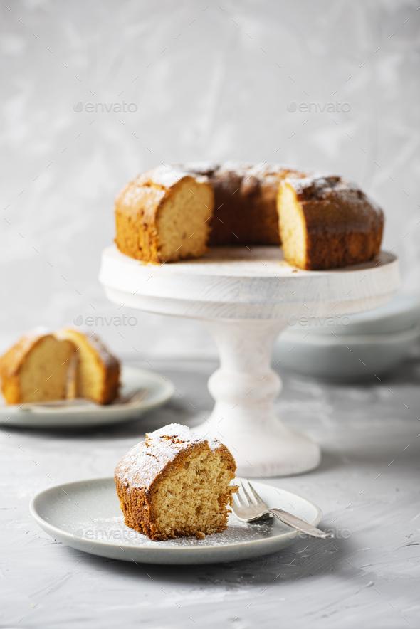 Homemade Bundt cake - Stock Photo - Images