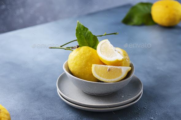 Fresh Sicilians lemons - Stock Photo - Images