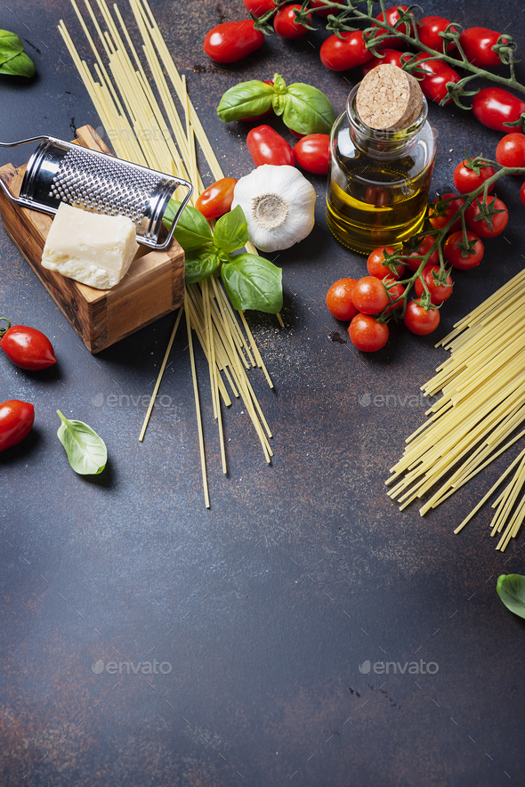 Concept of italian food - Stock Photo - Images