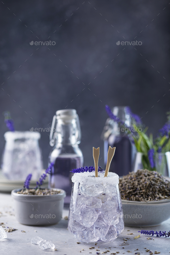 Summer cold drink with lavender - Stock Photo - Images