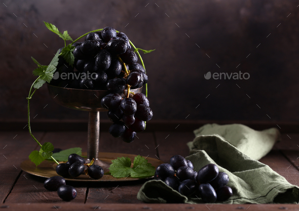 Ripe Organic Grapes - Stock Photo - Images