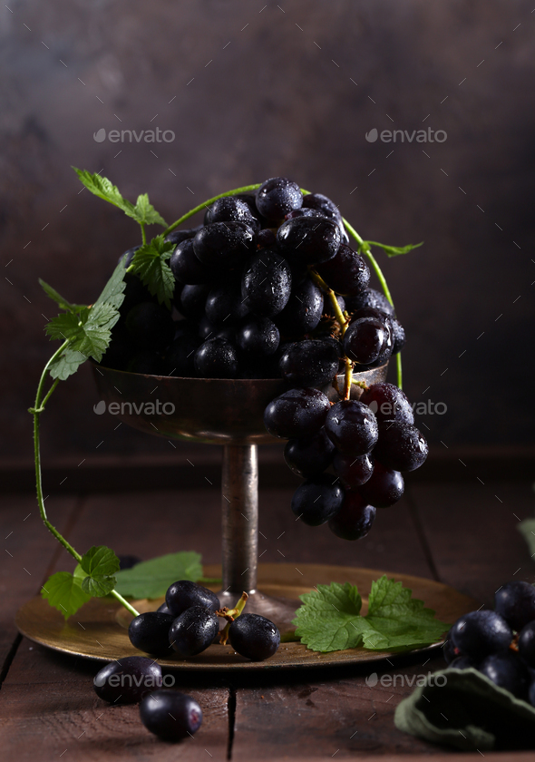 Ripe Organic Grapes - Stock Photo - Images