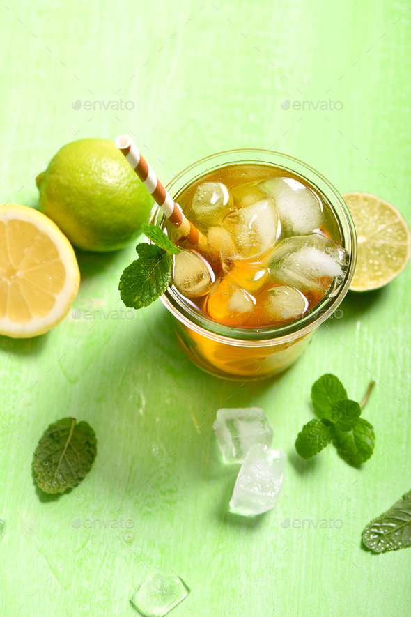 Refreshing Cocktail or Lemonade - Stock Photo - Images
