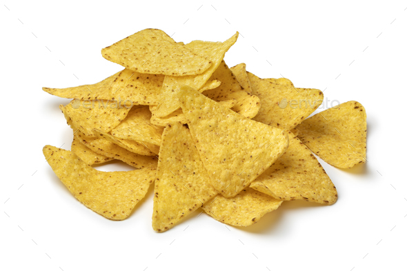 Heap of fresh salted tortilla chips - Stock Photo - Images