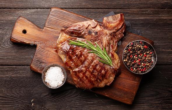 T-bone beef steak - Stock Photo - Images