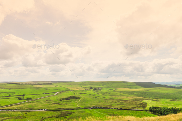 Mam Tor hill near Castleton and Edale in the Peak District Natio - Stock Photo - Images