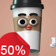 Coffee Cups - Character Kit - VideoHive Item for Sale