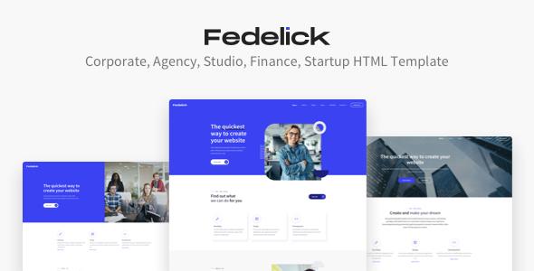 Fedelick - Corporate, Agency Multi-Purpose HTML Template