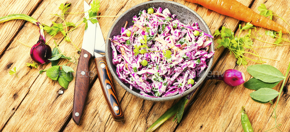 Red kraut salad - Stock Photo - Images