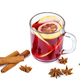 Christmas mulled wine , anise stars and cinnamon sticks isolated on white background - PhotoDune Item for Sale