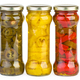 Glass jars with marinated red, yellow, and green pepper slices - PhotoDune Item for Sale