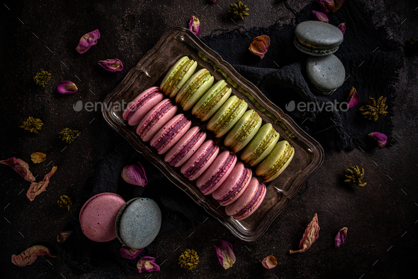 Macaron dessert concept - Stock Photo - Images