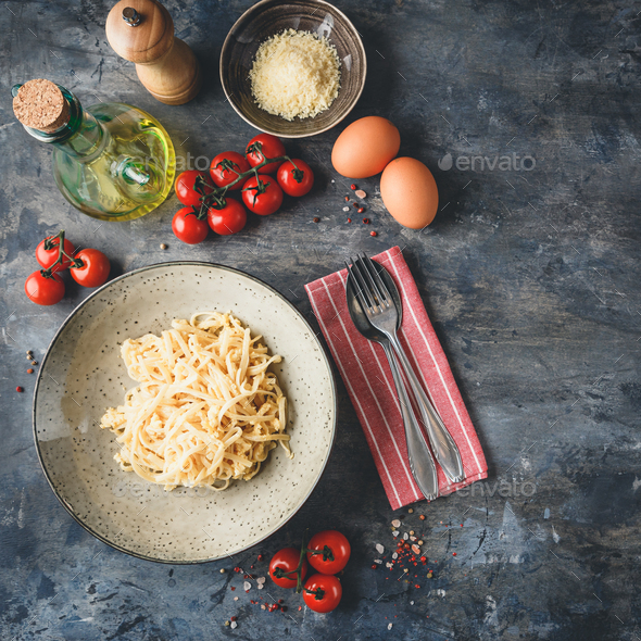 Cheese and Egg Pasta - Stock Photo - Images