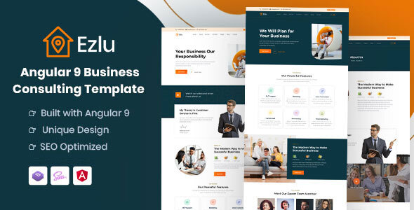 Download Ezlu - Angular 9 Business Consulting Template }}