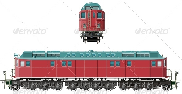 Vector detailed Locomotive - Man-made Objects Objects
