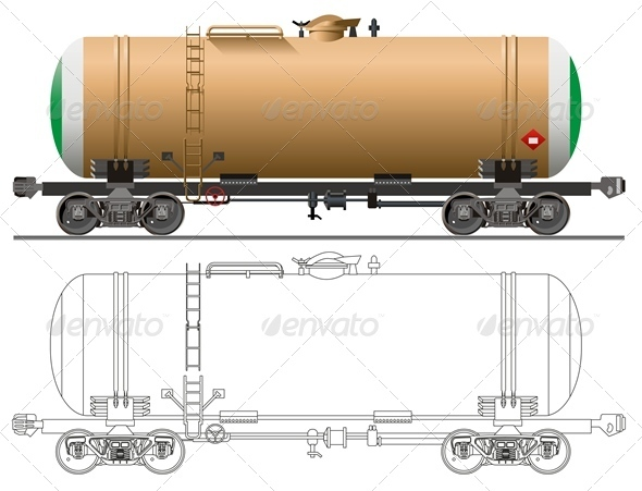 Vector Tanker Car - Man-made Objects Objects