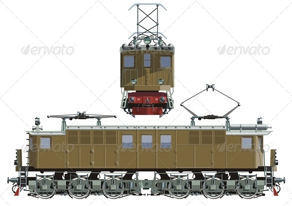 Vector Electric Locomotive - Man-made Objects Objects