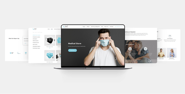 Staf - Medical Store Muse Template