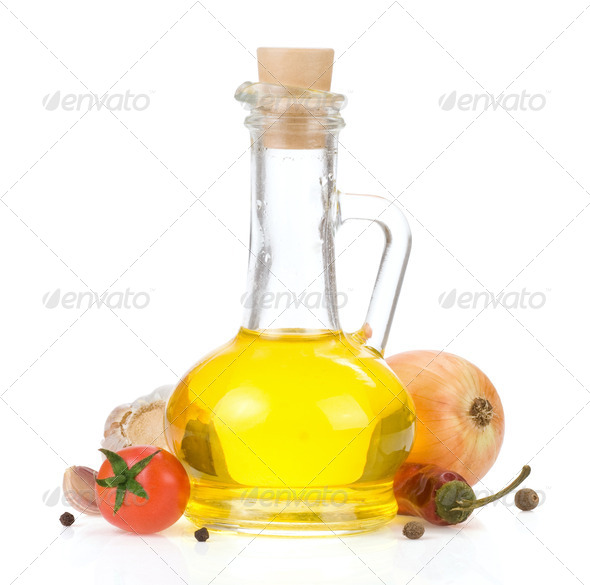 oil and food ingredients - Stock Photo - Images