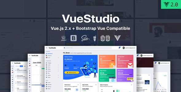 VueStudio – Bootstrap 4 Admin Template