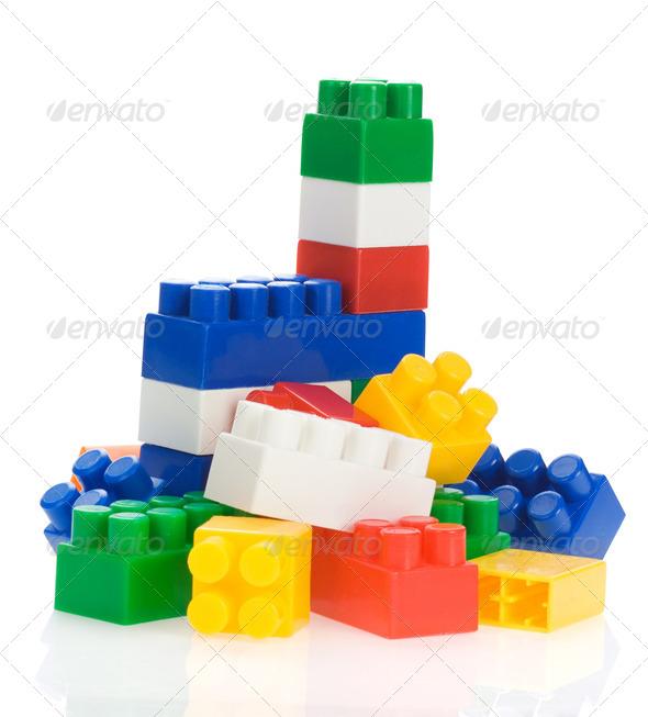 toys isolated on white - Stock Photo - Images