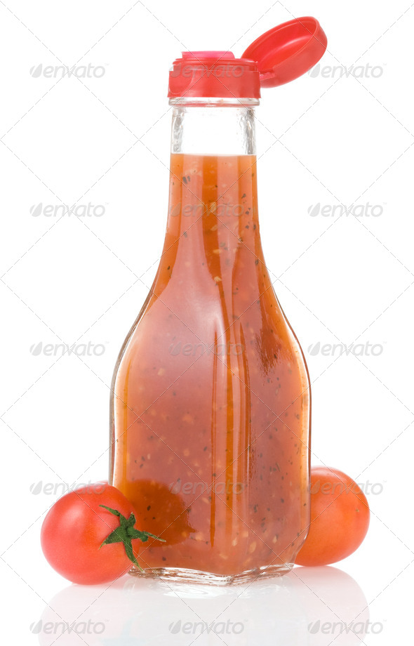tomato sauce and ketchup - Stock Photo - Images